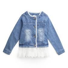 <b>Куртка</b> текстильная <b>джинсовая для девочек</b> PlayToday 194153 ...