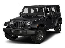 2018 black clearcoat jeep wrangler jk unlimited rubicon 4 door regular unleaded v 6 3 6