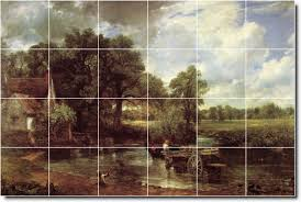 Mural Tiles For Kitchen Decor Constable Country Wall Kitchen Mural Tiles Backsplash H