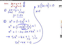 symbols prepossessing simultaneous equations linear and non