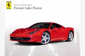 List of ferrari performance specs. Ferrari 458 Italia For Sale Dupont Registry