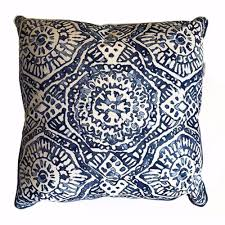 blue and white pillows. Interesting White A  SUE PILLOW Blue And White Moroccan Print 22 X 22Two In Stock FREE  SHIPPING Throughout And Pillows R