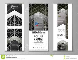Flyers Flag Roll Up Banner Stands Flat Design Templates Business