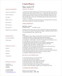 Hairstylist Cv Example For Personal Services Ideas Of Hairdresser ...