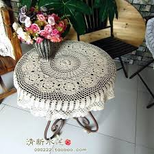 tablecloth for small round table small table cover french fashion style handmade crochet small round table