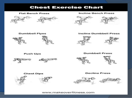 Shoulder Chart Workout Develop Chest Shoulders Arm Back Triceps N Leg With Help