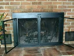 gas fireplace door ket clean gas fireplace glass doors