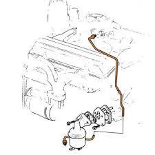 fuel pump carb lines tbw l l from mid 1970 1976 corvette tbw fuel pump to carb line 350 l48 and l82 diagram