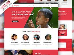 Free Psd Non Profit Organization Website Template Psd By Psd