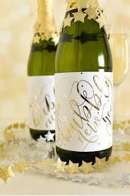 Diy Wine Bottle Labels Diy Foiled Champagne Bottle Labels Hey Lets Make Stuff
