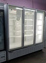 3 door glass door display cooler certified pre owned cooler
