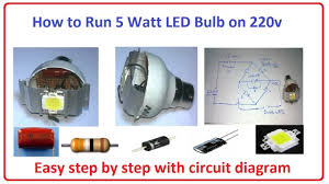 how to run 5 watt led bulb on 220v easy step by step circuit how to run 5 watt led bulb on 220v easy step by step circuit diagram