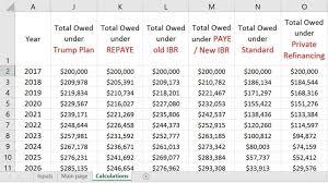 Student Loan Spreadsheet Infinite Repayment Workflow