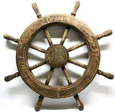 warm ship wheel wall decor modern house art and index large decoration steering mirror