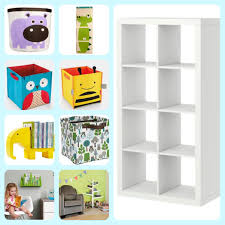Ikea Toy Organizer Furniture White Ikea Toy Storage With Eight Spaces For Children