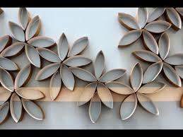 flowers using toilet paper rolls diy  on tissue paper flowers wall art with flowers using toilet paper rolls diy youtube