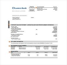 account statement templates sample bank statement 19 documents in pdf word excel
