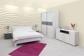Schlafzimmer Komplett Set E Lepe 6 Teilig Teilmassiv Farbe Eiche Weiß Anthrazit Weiß