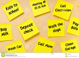 Things To Do Post It Memo Tasks Male Stock Image Image Of Affixed
