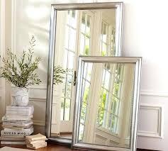 silver floor mirror. Simple Mirror Silver Floor Mirror Beaded Pottery Barn Leaning  Full Length   On Silver Floor Mirror O