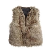 lianle uni childrens vest fashion faux fur sleeveless warm jacket summer 47826