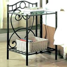 round metal nightstand round metal nightstand gold glass top nightstand night stands metal and nightstands round