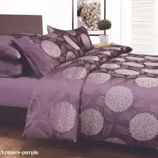 purple bed covers armure purple plum king jacquard quilt doona duvet cover set brand new