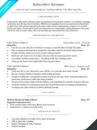 Babysitter Resume Objective Stunning Babysitter Resume Objective Examples Professional Letsdeliverco