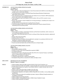 accounting skills on resume - accounting operations resume samples velvet  jobs
