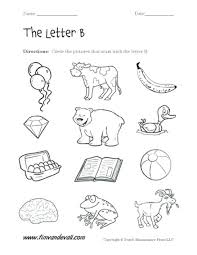 Letter B Worksheets Kindergarten And Number Download Them Try To ...