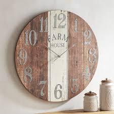 Farmhouse Wall Clock Pier 1 Imports Wood Spool Clock