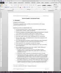 writing a job description template. Job Descriptions Template ISO Template