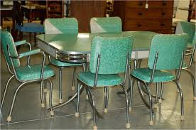 vintage fisher table and chairs chrome vintage 1950 s formica kitchen table and chairs teal