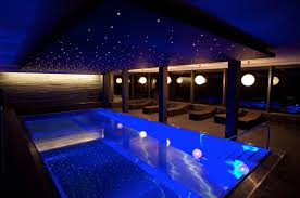 indoor swimming pool lighting. Interesting Indoor Swimming Pool Romantic Indoor Mixed With Sparkling Ceiling And From  Outdoor Throughout Lighting N