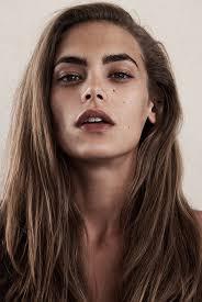 brown lips and bold brow
