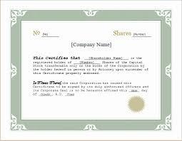 Corporate Stock Certificate Template New Customizable Stock