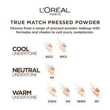 True Match Foundation Colour Chart Loreal Paris True Match Super Blendable Powder Caramel Beige W7 9g