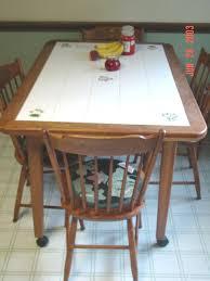 10 photos to Ceramic tile kitchen table