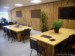 half round bamboo poles as wall covering