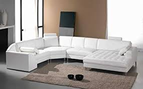 leather sectional couches.  Sectional Amazoncom Vig Furniture Monaco White Leather Sectional Sofa 2236  Kitchen U0026 Dining For Couches