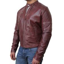 men s brown biker leather jacket