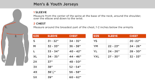 Fox Gear Sizing Chart 13 Memorable Fox Racing Youth Jersey Size Chart