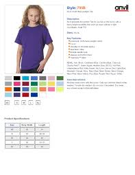 Anvil Youth Shirt Size Chart Anvil T Shirt Size Chart Rldm