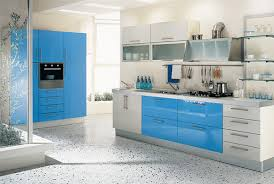 simple home kitchen design. blue and white simple kitchen design home n