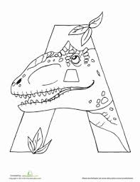 They will help to remember the alphabet, numbers, and account on the associative level. Dinosaur Coloring Pages Education Com