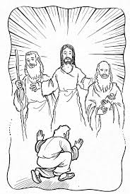 jesus transfiguration coloring page - 100 images - mount of ...
