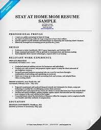 Stay At Home Mom Resume Template 68 Images Stay At Home Mom