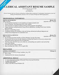 Building Superintendent Resume Glamorous Clerical Assistant Resume