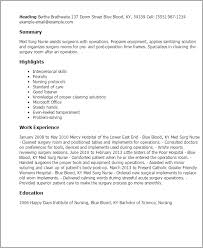 Resume Templates: Med Surg Nurse