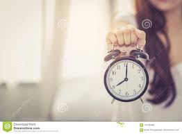 download beautiful asian young woman wake up in morning annoyed alarm clock holding hand stock image beautiful alarm clock n57